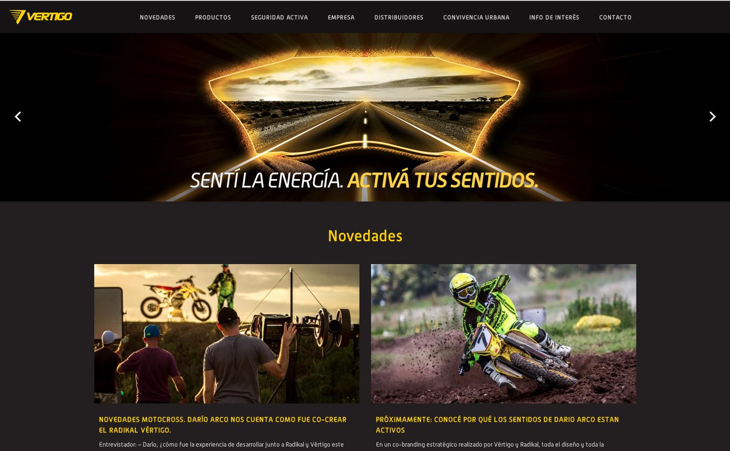 Nuevo Sitio Web: Vertigo